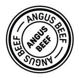 Tampon en caoutchouc d'Angus Beef illustration stock