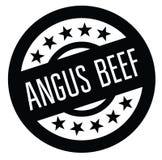 Tampon en caoutchouc d'Angus Beef illustration libre de droits