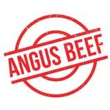 Tampon en caoutchouc d'Angus Beef Images libres de droits