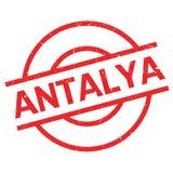 Tampon en caoutchouc d'Antalya illustration stock