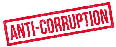 Tampon en caoutchouc d'Anti-corruption Image libre de droits