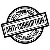 Tampon en caoutchouc d'Anti-corruption Photographie stock