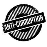 Tampon en caoutchouc d'Anti-corruption Photos libres de droits
