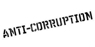 Tampon en caoutchouc d'Anti-corruption Photographie stock libre de droits