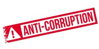 Tampon en caoutchouc d'Anti-corruption Photo libre de droits