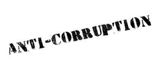 Tampon en caoutchouc d'Anti-corruption Images stock