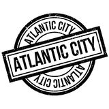 Tampon en caoutchouc d'Atlantic City Photo stock