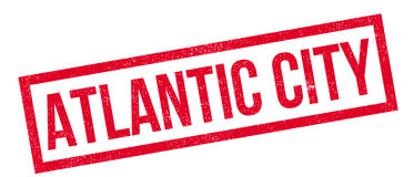 Tampon en caoutchouc d'Atlantic City Image stock