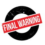 Tampon en caoutchouc d'avertissement final Photo libre de droits