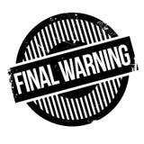 Tampon en caoutchouc d'avertissement final Image libre de droits