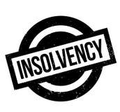 Tampon en caoutchouc d'insolvabilité Photo libre de droits