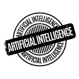 Tampon en caoutchouc d'intelligence artificielle illustration libre de droits