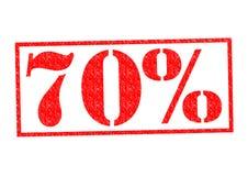 Tampon en caoutchouc de 70% Images libres de droits