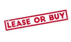 Tampon en caoutchouc de bail ou d'achat Image libre de droits