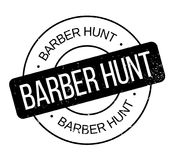 Tampon en caoutchouc de Barber Hunt Photographie stock libre de droits