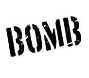 Tampon en caoutchouc de bombe Images stock