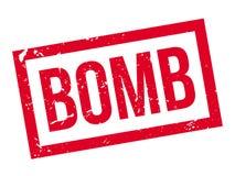 Tampon en caoutchouc de bombe Image stock