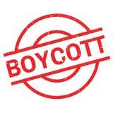 Tampon en caoutchouc de boycott illustration libre de droits