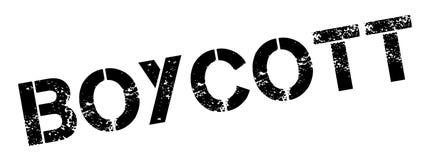 Tampon en caoutchouc de boycott illustration de vecteur