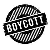 Tampon en caoutchouc de boycott illustration stock