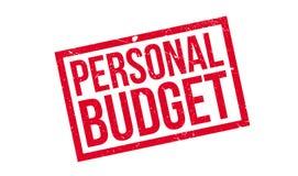 Tampon en caoutchouc de budget personnel Photo libre de droits