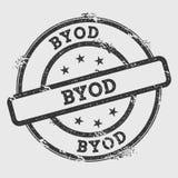 Tampon en caoutchouc de Byod sur le fond blanc illustration de vecteur