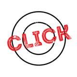 Tampon en caoutchouc de clic Photo stock