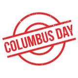 Tampon en caoutchouc de Columbus Day illustration stock