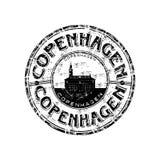 Tampon en caoutchouc de Copenhague Image libre de droits