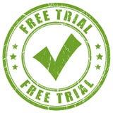 Tampon en caoutchouc de coutil d'essai gratuit Images libres de droits