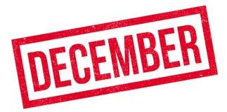 Tampon en caoutchouc de décembre Photo stock