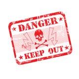 tampon en caoutchouc de danger illustration de vecteur