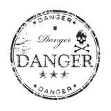 tampon en caoutchouc de danger illustration libre de droits