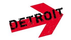 Tampon en caoutchouc de Detroit Photos libres de droits