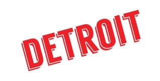 Tampon en caoutchouc de Detroit illustration de vecteur