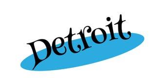 Tampon en caoutchouc de Detroit Photos stock