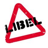 Tampon en caoutchouc de diffamation Image libre de droits