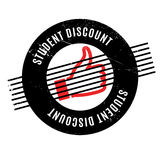 Tampon en caoutchouc de Discount d'étudiant Photographie stock libre de droits
