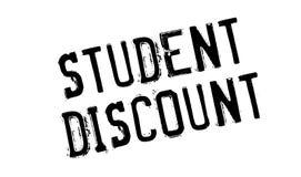 Tampon en caoutchouc de Discount d'étudiant Photo libre de droits
