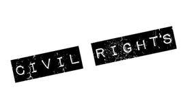 Tampon en caoutchouc de droits civiques illustration de vecteur