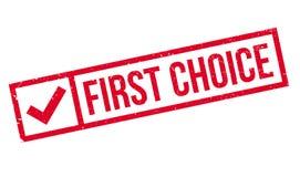 Tampon en caoutchouc de First Choice Photographie stock libre de droits