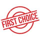 Tampon en caoutchouc de First Choice Photo stock