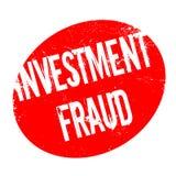 Tampon en caoutchouc de fraude d'investissement Images libres de droits