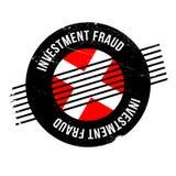 Tampon en caoutchouc de fraude d'investissement Photo stock