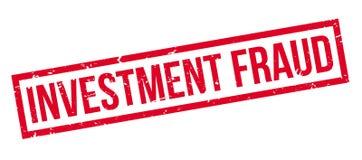 Tampon en caoutchouc de fraude d'investissement Images stock
