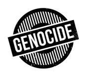 Tampon en caoutchouc de génocide Photos libres de droits