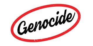Tampon en caoutchouc de génocide Image stock