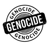 Tampon en caoutchouc de génocide Images stock