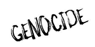 Tampon en caoutchouc de génocide Photo libre de droits
