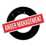 Tampon en caoutchouc de gestion de colère illustration stock